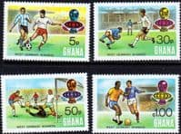 Ghana 1974 World Cup Football Championship Set Fine Mint