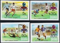 Ghana 1974 World Cup Football Championship Set Imperf Fine Mint