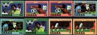 Ghana 1982 World Cup Football Championship Winner Set Fine Mint