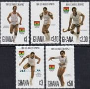 Ghana 1984 Olympic Games Set Fine Mint