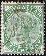 Gibraltar 1886 SG  8 Queen Victoria Head Fine Used