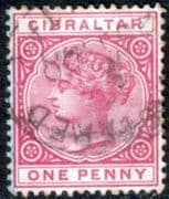 Gibraltar 1886 SG  9 Queen Victoria Head Fine Used