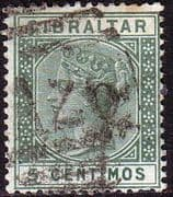 Gibraltar 1889 SG 22 Queen Victoria Head Fine Used