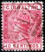Gibraltar 1889 SG 23 Queen Victoria Head Fine Used