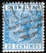 Gibraltar 1889 SG 26 Queen Victoria Fine Used