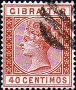 Gibraltar 1889 SG 27 Queen Victoria Head Fine Used