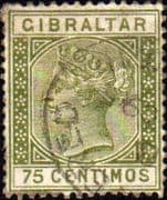 Gibraltar 1889 SG 29 Queen Victoria Head Used