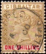 Gibraltar 1898 SG 45 Queen Victoria Fine Used