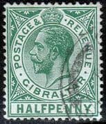 Gibraltar 1921 SG 89 King George VHead Fine Used