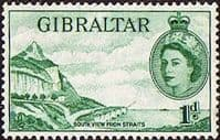 Gibraltar 1953 SG 146 South View of Rock Fine Mint