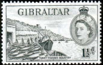 Gibraltar 1953 SG 147 Fish Canneries Fine Mint