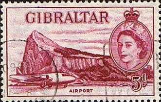 Gibraltar 1953 SG 152 Airport Fine Used