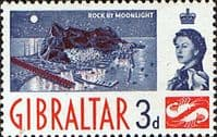 Gibraltar 1960 SG 164 The Rock by Moonlight Fine Mint