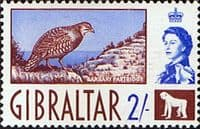 Gibraltar 1960 SG 170 Barbary Partridge Fine Mint