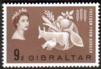 Gibraltar 1963 Freedom From Hunger Fine Mint
