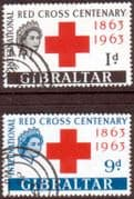 Gibraltar 1963 Red Cross Centenary Set Fine Used