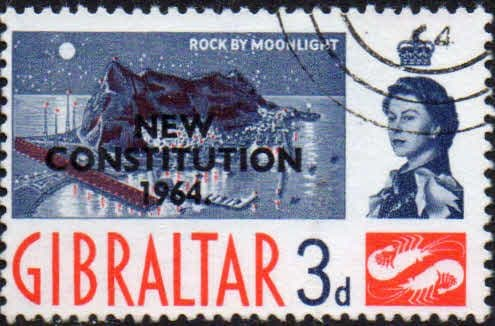 Gibraltar 1964 New Costitution SG 178 Fine Used