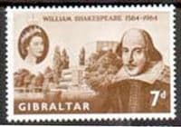 Gibraltar 1964 William Shakespeare Fine Mint