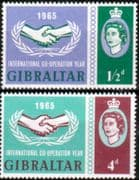 Gibraltar 1965 International Co-operation Year Set Fine Mint