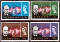 Gibraltar 1966 Churchill Set Fine Mint