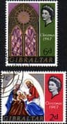 Gibraltar 1967 Christmas Year Fine Used