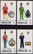 Gibraltar 1972 Military Uniforms Fine Mint