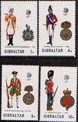 Gibraltar 1973 Military Uniforms Fine Mint