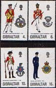 Gibraltar 1974 Military Uniforms Fine Mint