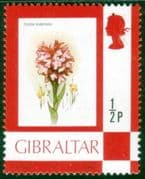 Gibraltar 1977 SG 374 Fowers Orchid Fine Mint