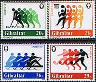 Gibraltar 1984 Sports Set Fine Mint