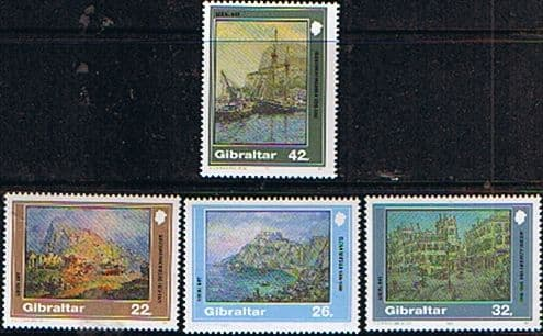 Gibraltar 1991 Local Paintings Set Fine Mint
