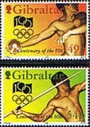 Gibraltar 1994 Olympic Committee Set Fine Mint