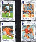 Gibraltar 1996 European Football Championship Set Fine Mint