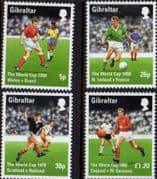 Gibraltar 1998 World Football Championship Set Fine Mint