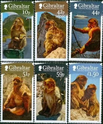 Gibraltar 2011 Barbary Macaque Set Fine Mint