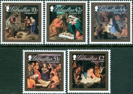 Gibraltar 2011 Christmas. Nativity Art Set Fine Mint