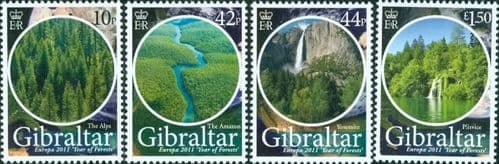 Gibraltar 2011 Europa. Year of Forests Set Fine Mint