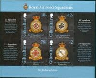 Gibraltar 2012 Royal Air Force Squadrons Miniature Sheet Fine Mint