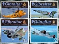 Gibraltar 2012 Royal Air Force Squadrons Set Fine Mint