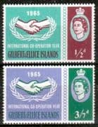 Gilbert and Ellice 1965 International Co-operation Year Set Fine Mint