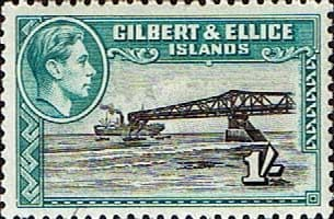 Gilbert and Ellice Islands 1939 SG 51a Cantilever Jetty Fine Mint