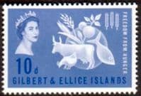 Gilbert and Ellice Islands 1963 Freedom From Hunger Fine Mint