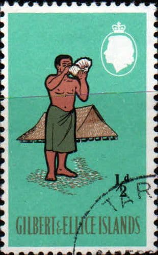 Gilbert and Ellice Islands 1965 SG 89 Man Blowing Bu Shell Fine Used