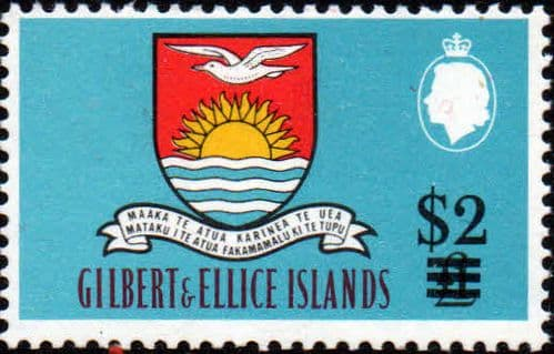 Gilbert and Ellice Islands 1966 Decimal Currency SG 124 Surcharge Fine Mint