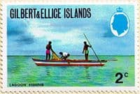 Gilbert and Ellice Islands 1972 SG 203 Lagoon Fishing Fine Mint