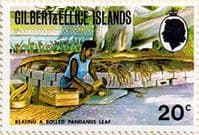 Gilbert and Ellice Islands 1972 SG 207 Beating a rolled pandanus leaf Fine Mint