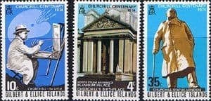 Postage Stamps Gilbert and Ellice Islands 1974 Churchill Centenary Set Fine Mint