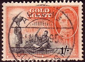 Stamps of Gold Coast 1948 SG 143 Breaking Cocoa Pods Fine Used Scott 138