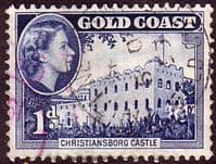 Gold Coast 1952 SG 154 Queen Elizabeth Christianborge Castle Fine Used