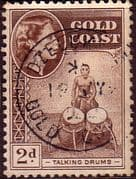 Gold Coast 1952 SG 156 Queen Elizabeth Talking Drums Fine Used